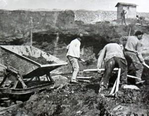 Богдановичское рудоуправление. Карьер в 40-е годы